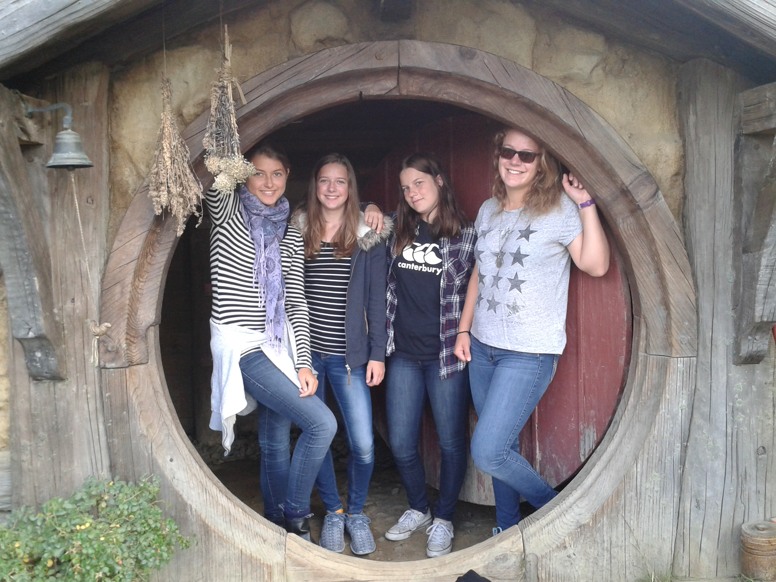 German girls in Hobbiton House