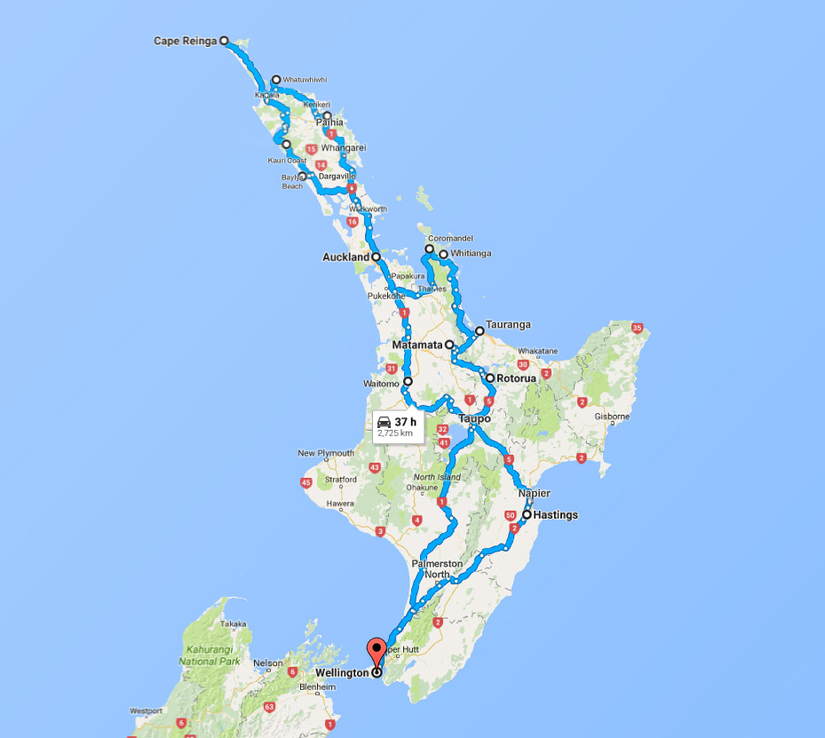 google-map-trips-north