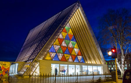 transitional_cardboard_cathedral_at_night